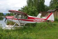 N4113E @ LHD - 1978 Piper PA-18-150, c/n: 18-7809071 docked on Lake Hood