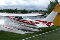 N759MZ @ LHD - 1977 Cessna 182Q, c/n: 18266115 on Lake Hood