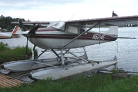 N5214E @ LHD - 1959 Cessna 180B, c/n: 50514 on Lake Hood