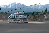 N33AZ @ MRI - 1984 Bell 206L-3, c/n: 51110 of Evergreen Helicopters at Merrill Field