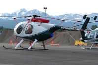 UNKNOWN @ MRI - Unidentified Evergreen Helicopter on Merrill Field Ramp  - please e-mail me if you know the tail number !!