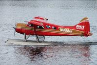 N68083 @ LHD - 1958 Dehavilland BEAVER DHC-2 MK.1, c/n: 1254 of Rusts Flying Services on Lake Hood