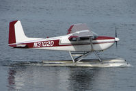 N3102D @ LHD - 1955 Cessna 180, c/n: 31900 on Lake Hood