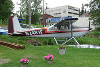 N2484F @ LHD - 1966 Cessna 180H, c/n: 18051686 on Lake Hood