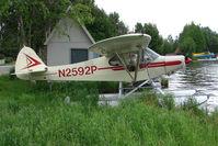 N2592P @ LHD - 1955 Piper PA-18A 150, c/n: 18-4336 on Lake Hood