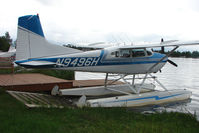 N9496H @ LHD - 1977 Cessna A185F, c/n: 18503442 on Lake Hood