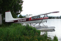 N264M @ LHD - 1958 Cessna 180A, c/n: 50236 on Lake Hood