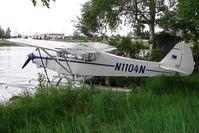 N1104N @ LHD - Piper PA-18-150, c/n: 18-7579 on Lake Hood - by Terry Fletcher