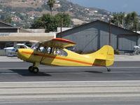 N84171 @ SZP - 1946 Aeronca 7AC CHAMPION, Continental A&C65 65 Hp, landing roll Rwy 22 - by Doug Robertson