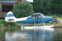 N1266H @ 5BL - 1949 Aeronca 15AC, c/n: 15AC279 on Homer Beluga Lake