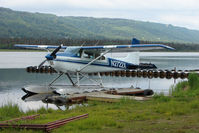 N2722X @ 5BL - 1965 Cessna 180H, c/n: 18051522 on Homer Beluga Lake