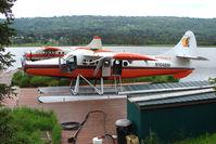 N104BM @ 5BL - 1956 Dehavilland DHC-3, c/n: 118 of Bald Mountain Air on dock at Homer Beluga Lake - by Terry Fletcher