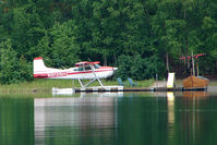 N9128H - 1977 Cessna A185F, c/n: 18503417 on Soldotna Longmere Lake