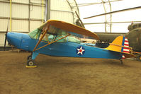 N47648 @ LHD - 1943 Taylorcraft DCO-65, c/n: 5416 preserved at the Alaska Aircraft Heritage Museum on Lake Hood