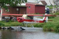 N47TS @ LHD - 1977 Piper PA-18-150, c/n: 18-7709120 on Lake Hood