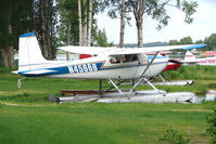 N4566B @ LHD - Cessna 180, c/n: 31465 at Lake Hood