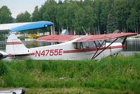 N4755E @ LHD - Piper PA-18, c/n: 18-7655 at Lake Hood