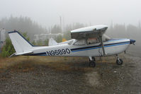 N96890 @ SXQ - 1967 Cessna R172E, c/n: R172-0118 at a misty Soldotna
