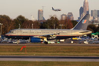 N820UA @ CLT - United Airlines N820UA (FLT UAL411) taxiing to RWY 18C for departure to Chicago O'Hare Int'l (KORD) late in the day. - by Dean Heald