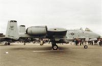 81-0962 @ MHZ - A-10A Thunderbolt of 510th Fighter Squadron/52nd Fighter Wing based at Spangdahlem on display at the 1994 RAF Mildenhall Air Fete. - by Peter Nicholson