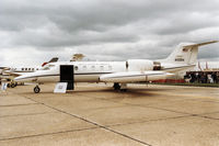 84-0084 @ MHZ - C-21A Learjet of the 76th Airlift Squadron/86th Airlift Wing at Ramstein Air Base on display at the 1994 RAF Mildenhall Air Fete. - by Peter Nicholson
