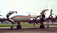 N400UA @ KDET - N400UA at Detroit City Airport 1985. Operated by Universal Airlines. - by JR Chupailo