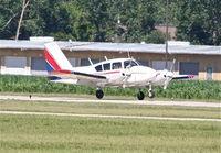 N4515P @ KDPA - FLYING W LEASING INC Piper PA23 Apache, N4515P arriving 20R KDPA. - by Mark Kalfas