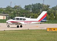 N4515P @ KDPA - FLYING W LEASING INC Piper PA23 Apache, N4515P taxiway Whiskey KDPA. - by Mark Kalfas