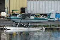 N9464C @ LHD - 1955 Cessna 180, c/n: 31862 on dock at Lake Hood