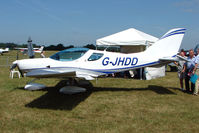 G-JHDD @ EGTB - Sportscruiser displayed at AeroExpo 2010
