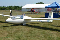 G-CFLE @ EGTB - Glider displayed at AeroExpo 2010