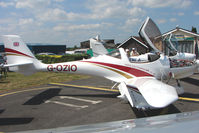 G-OZIO @ EGTB - Aquila displayed at AeroExpo 2010