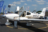 N147LD @ EGTB - 2004 Cirrus Design Corp SR22, c/n: 0937 displayed at AeroExpo 2010