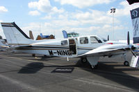 M-NINE @ EGTB - Beech Aircraft Baron 58 G, c/n: TH-2203 displayed at AeroExpo 2010