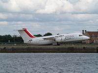 EI-RJT @ EGLC - BAe 146-RJ85 [E2366] (Cityjet) London City~G 15/06/2010. Seen departing.