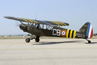 F-GSCB @ LFMI - This warbird wears the black and yellow striping of Operation Musquetaire (Suez Crisis