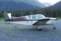 N1975D @ AQY - 1952 Beech C35, c/n: D-3172 at Girdwood AK