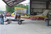 N61273 @ AQY - 1973 Cessna U206F, c/n: U20602067 receiving maintenance at Girdwood AK