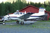 N15PH @ AQY - 1958 Beech E50, c/n: RLH-20 at Girdwood AK