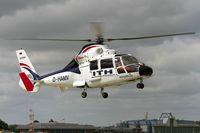 D-HAMV @ ETNL - SA-365N Dauphin air-taxying to the refueling aera