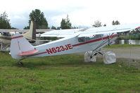 N623JE @ LHD - 1965 Piper PA-18-150, c/n: 18-8272 on Lake Hood