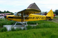 N7077D @ LHD - 1957 Piper PA-18-150, c/n: 18-5562 on Lake Hood