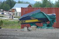 N44233 @ LHD - Remains of 1946 Taylorcraft BC12-D, c/n: 10033 at Lake Hood