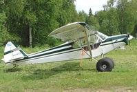 N124GS @ PATK - 1956 Piper PA-18, c/n: 5287 at Talkeetna