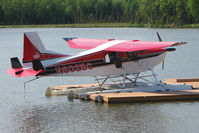 N602BC @ 2X2 - 2007 Found Acft Canada Inc FBA-2C2, c/n: 105 on dock at Willow Seaplane Base - by Terry Fletcher
