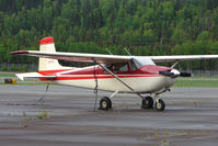 N6147B @ PASX - 1957 Cessna 182A, c/n: 34147 at Soldotna - by Terry Fletcher