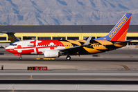 N214WN @ LAS - Southwest Airlines Maryland ONE on takeoff roll on RWY 25R. - by Dean Heald