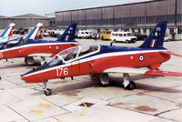 XX176 @ EGDM - Hawk T.1, callsign VYT 78 Bravo, of 4 Flying Training School, RAF Valley on the flight-line at the 1990 Boscombe Down Battle of Britain 50th Anniversary Airshow. - by Peter Nicholson