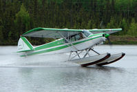 N3391Z @ L85 - 1960 Piper PA-18-150, c/n: 18-7276 on Mackey Lake , Soldotna