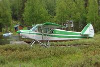 N3391Z @ L85 - 1960 Piper PA-18-150, c/n: 18-7276 docked on Mackey Lake Soldotna